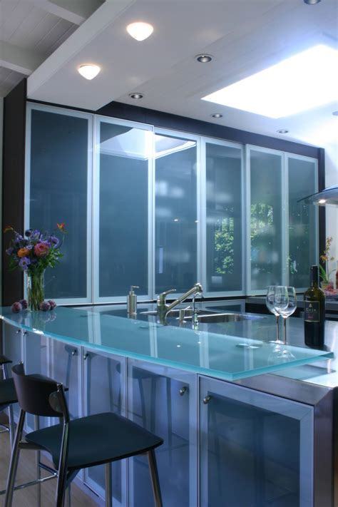 Modern Glass Kitchen Cabinets Glass Kitchen Cabinet Doors Kitchen Modern With Backlighting Ceiling Lighting Cove