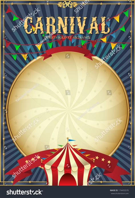 carnival posters template vintage carnival circus poster template vector stock