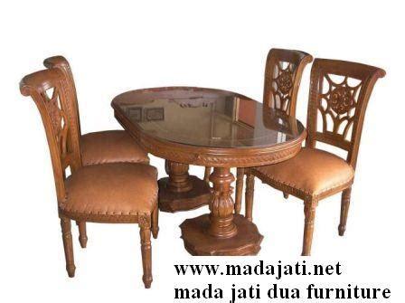 Meja Makan Jati Salina kursi makan salina 4k mada jati furniture