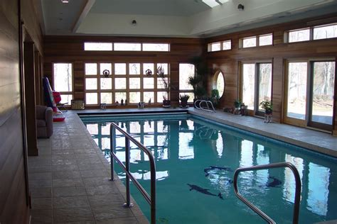 New Jersey House indoor pool with therapy design colts neck new jersey