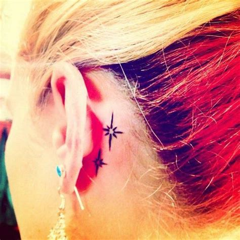 Star Tattoo Behind Right Ear Meaning | 70 pretty behind the ear tattoos tattoo star and piercings