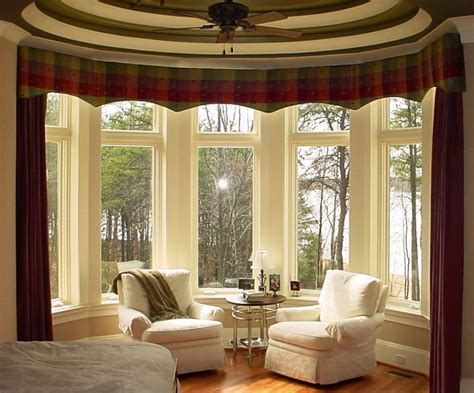 Interior Design Ideas Living Room Pictures - bedroom stunning sun room design with curve bay window using white frames and brown curtain also