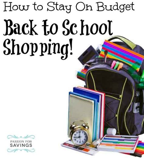 back to school shopping guide and price points for 2017 back to school shopping on a budget get the best prices