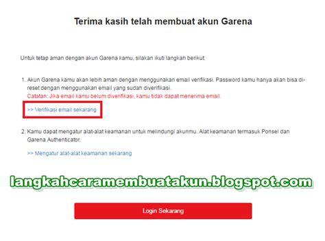 buat akun garena buat akun pb garena indonesia cara verifikasi email pb