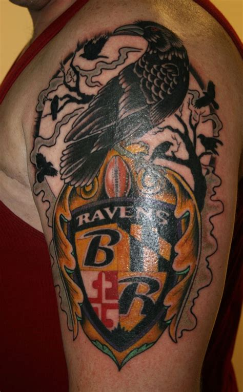 ravens tattoo 27 best baltimore ravens tattoos images on