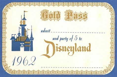 disney world gold pass vintage disneyland tickets 1962 disneyland gold pass