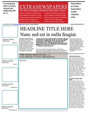 Free Newspaper Template Pack For Word Perfect For School Microsoft Newspaper Template