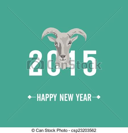 new year 2015 goat card clip vector of 2015 new year card with goat vector