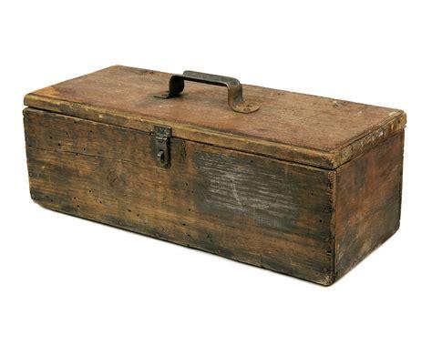 Handmade Tool Box - vintage wooden tool box handmade rustic wood primitive