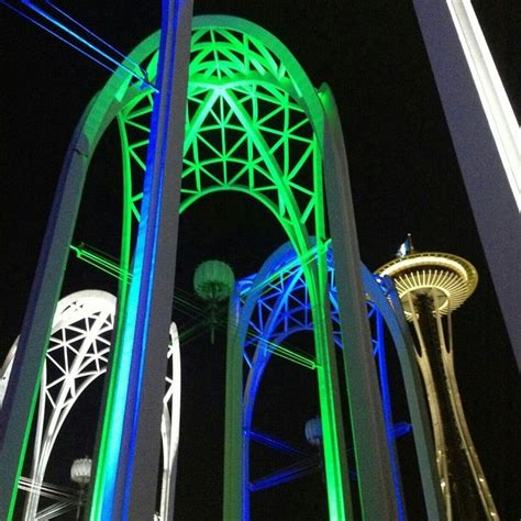 seattle seahawks colors blue space needle with seahawks colors go hawks