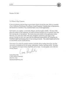 Letter Of Recommendation Format Sle