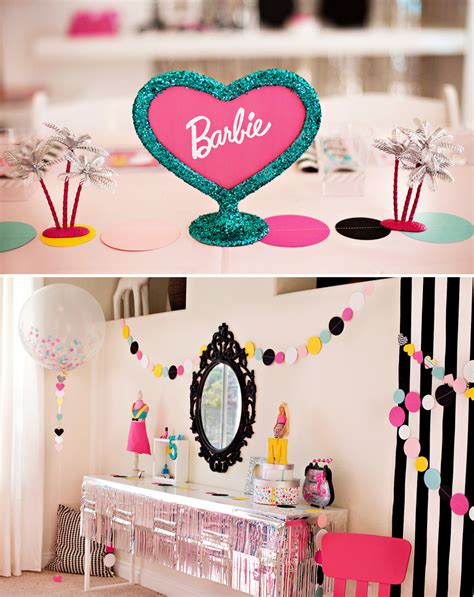 free printable barbie birthday decorations colorful modern barbie birthday party ideas hostess