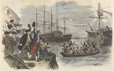 John Andrews, Boston Tea Party  Destruction of the Tea in Boston Harbor, December 16, 1773