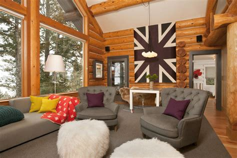interesting log cabin decoration ideas garden