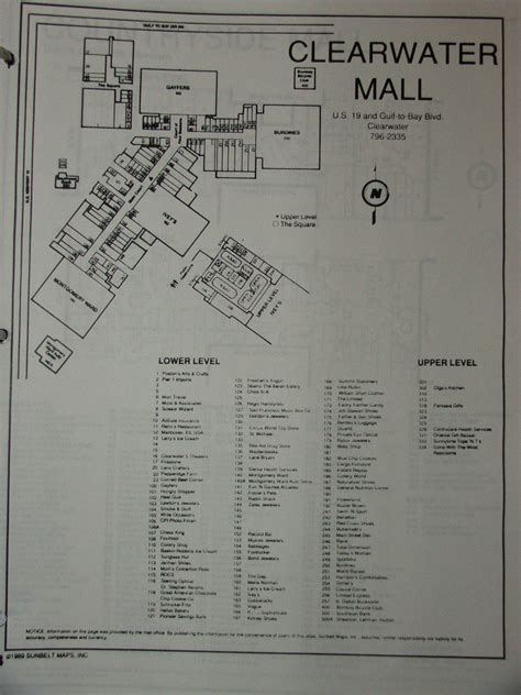 layout of florida mall sky city southern and mid atlantic retail history