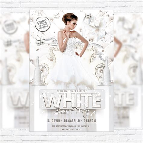 white flyer template free white best premium flyer template cover