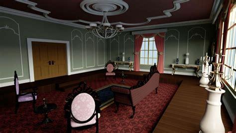 victorian sitting room  daz studio  poser