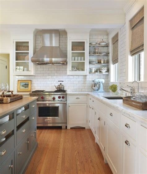 white kitchen cabinets with butcher block countertops blue gray kitchen island storage butcher block countertops