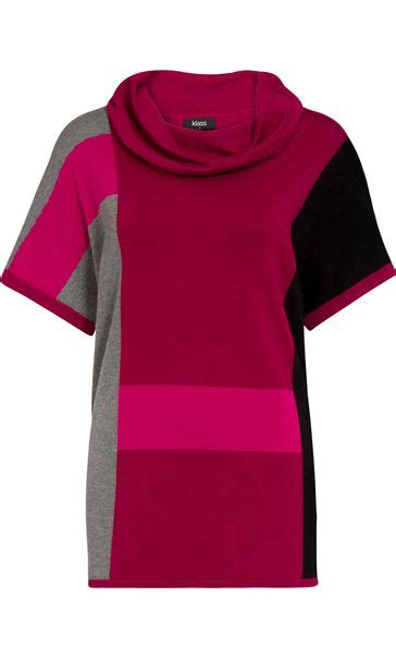 Color Block Sleeve Knit Top colour block cowl neck sleeve knit top black grey