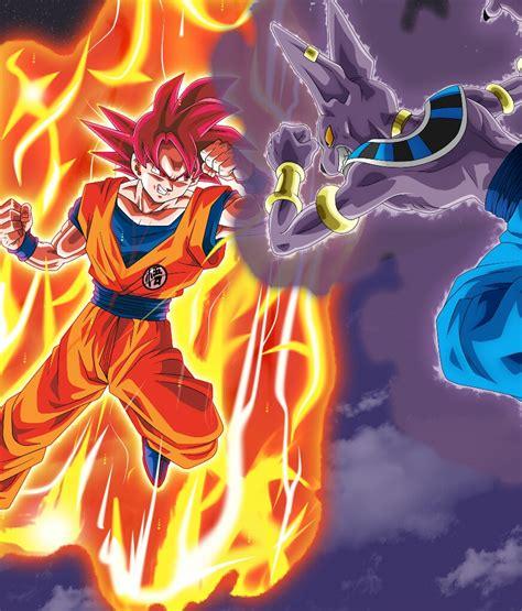 imagenes de goku vs bills en movimiento goku super sayajin dios vs bills dragon ball z