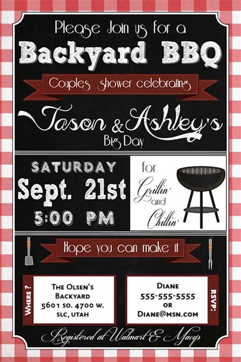 Bridal Shower Bbq Invitations by July 2016 Custom Invitations By Ekwebdesigns Page 3