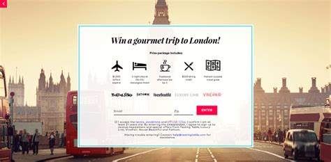 London Sweepstakes - sweepstakeslovers daily siriusxm gq genova seafood more