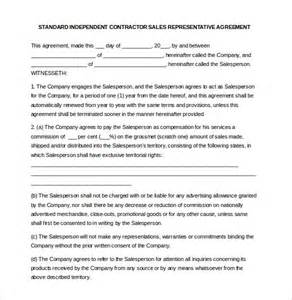 Sales Representative Contract Template 12 commission agreement template free sle exle