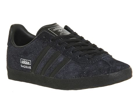 adidas gazelle black adidas gazelle og core black silver metallic trainers