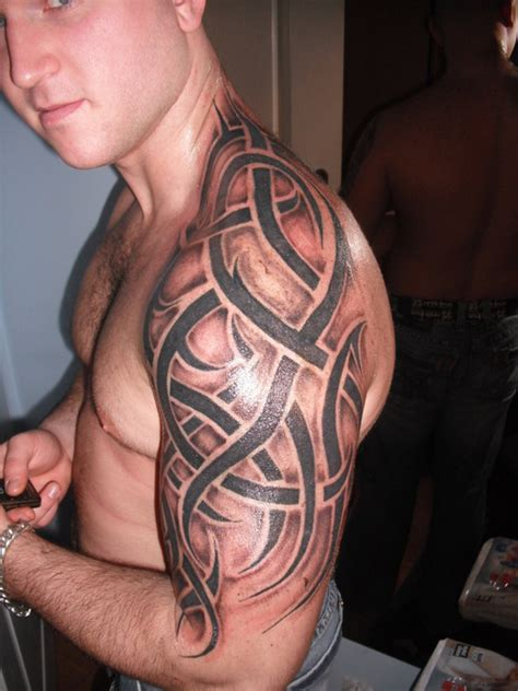 tribal tattoos with shading tribal with shading picture at checkoutmyink