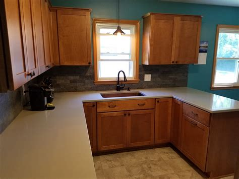 quartz countertops with maple cabinets kitchen remodel with maple cabinets and hanstone quartz