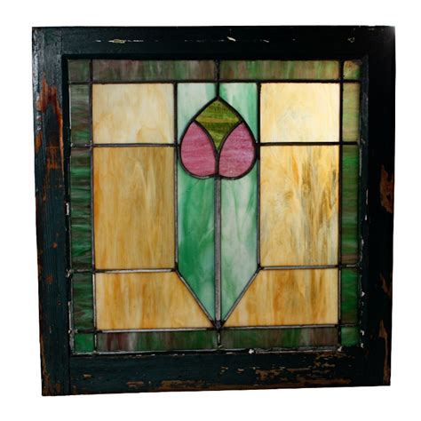 Antique Stained Glass Doors For Sale Wonderful Antique Arts Crafts American Stained Glass Window Nsg66 Rw For Sale Antiques