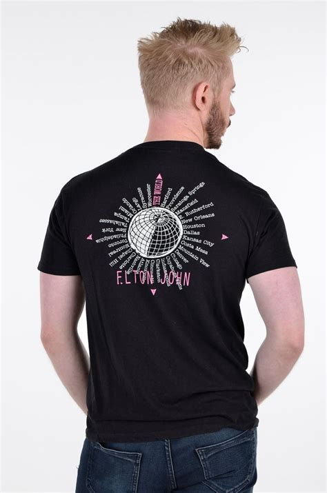 elton john world tour vintage 1989 90 elton john world tour t shirt s from
