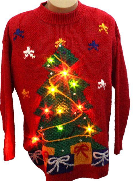 lightup ugly christmas sweater karen scott unisex red
