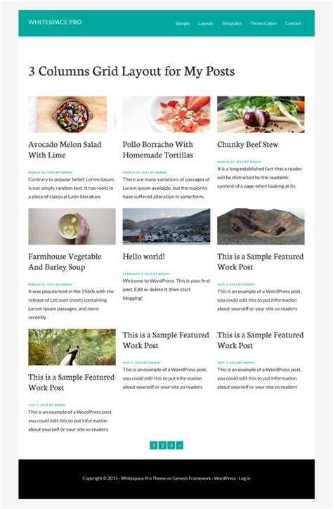 x theme blog layout created 3 columns grid layout for blog page in 5 mins