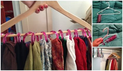 how to organize scarves diy tag