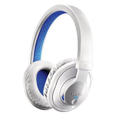 Headset Bluetooth Gblue Philips Shb7000wt Bluetooth Stereo Headphones White Blue