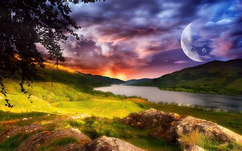 laptop landscape wallpaper fantasy landscape wallpapers wallpaper cave