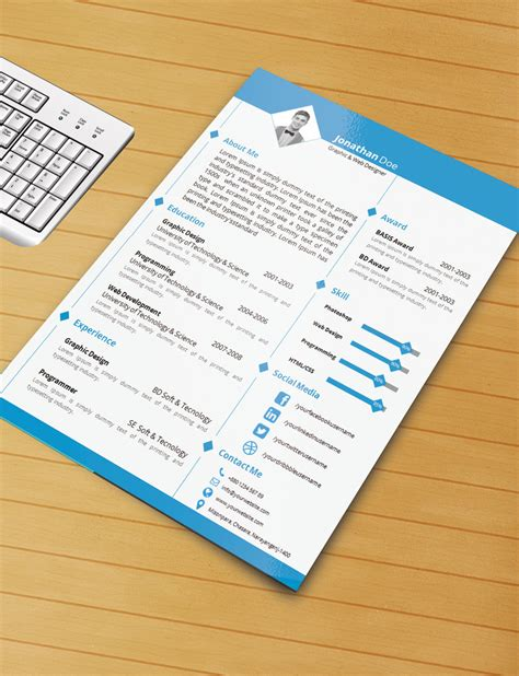 resume templates free download word resume template with ms word file free by