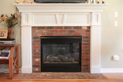 updating an brick fireplace fireplace reno ideas pinter