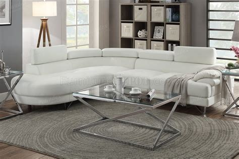 white faux leather sectional f6985 sectional sofa in white faux leather by boss