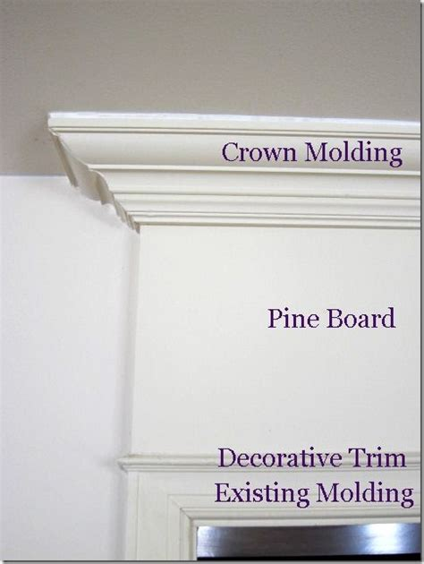 add molding shelving to the top of your kitchen cabinets how to add crown molding above a door