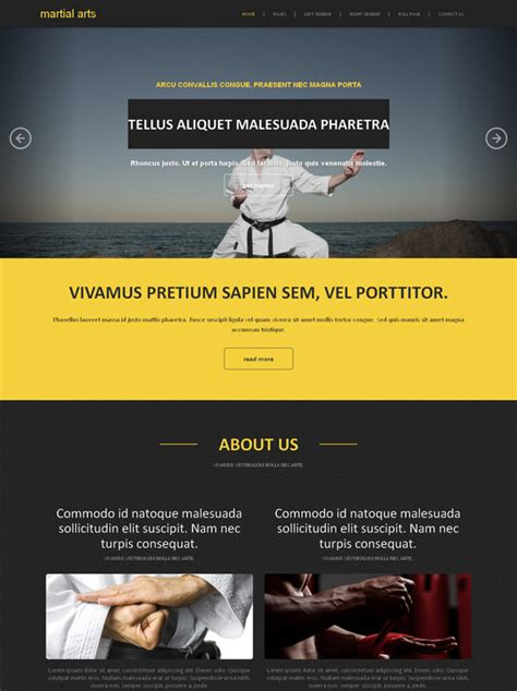 website templates for karate kung fu site template martial arts website templates