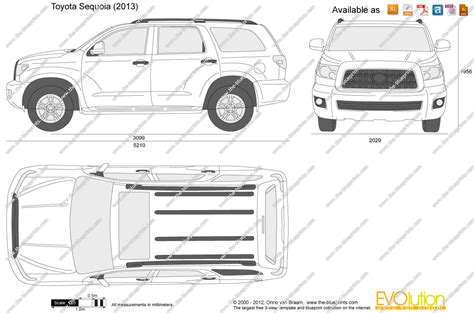toyota sequoia width the blueprints vector drawing toyota sequoia
