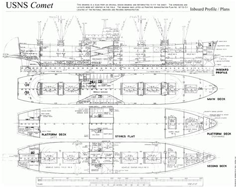 ship floor plan u s n s comet a revolutionary cargo vessel the model