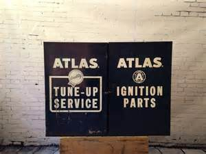 Atlas Ignition Parts Blue Vintage Metal Atlas Cabinet Tune Up Ignition Parts