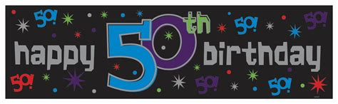 50th birthday banner template happy 50th birthday banner www pixshark images
