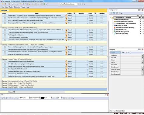 project task list example management template famous gallery