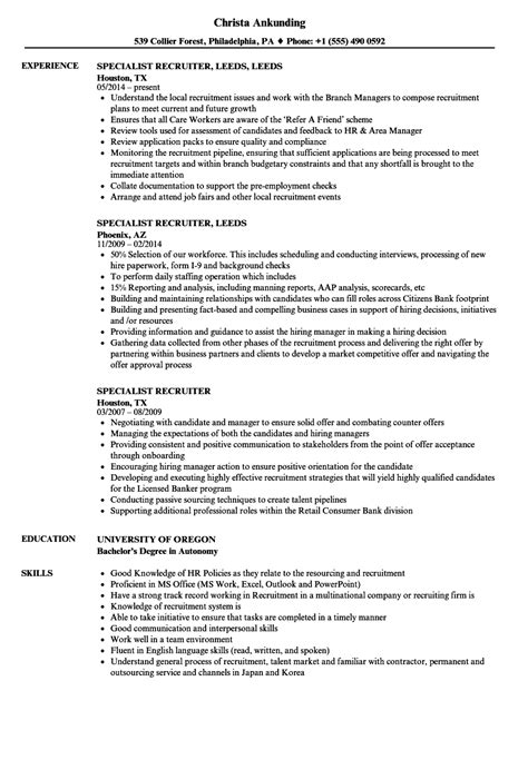 Remote Recruiter Cover Letter by Senior Recruiter Or Consultant Top Best Resume Format Hr Recruiter Sle Resume