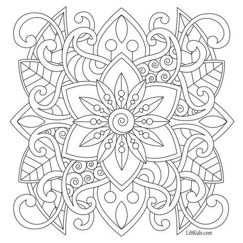 easy mandala coloring pages for adults 19 best free adult coloring pages images on pinterest