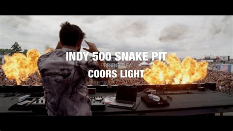 coors light pit aftermovie 2017 indy 500 snake pit presented by coors